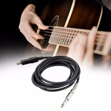 1pcs Drop Shipping 3M Guitar Bass 1/4'' USB TO 6.3mm Jack Link Connection Instrument Cable New Brand