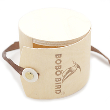 BOBO BIRD Wooden Watch Box with Brand Design Bamboo Round box for Men or Women