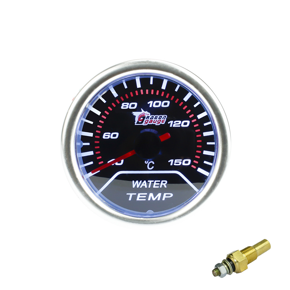 free shipping Water Temp Gauge 2(52mm) Smoke Lens Pointer Water Temperature Gauge /Auto gauge/Tachometer/Car Meter/Racing Meter<br><br>Aliexpress