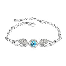 Hot Vintage Jewelry Angle Wings Bracelets Hand Chain for Women Made With Austrian ELements Crystal