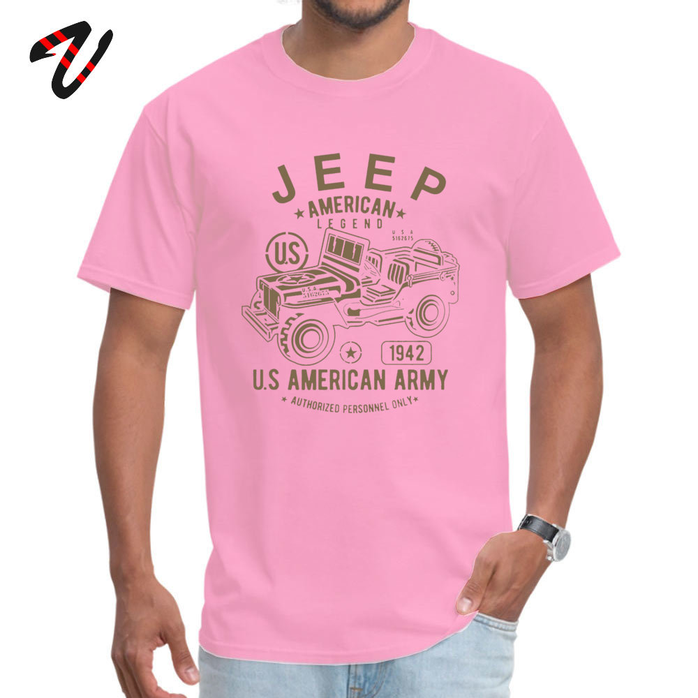 JEEP American Legend Army Fitness Tight _black Tops T Shirt for Men Cotton Fabric Round Neck Top T-shirts Europe Tshirts On Sale JEEP American Legend Army 1628 pink