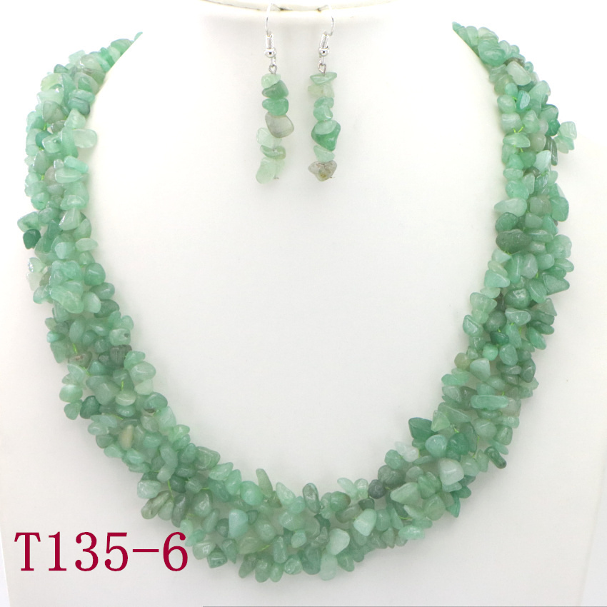 6 Natural Green Aventurine Eastern tombs Necklace silver jewelry wholesale necklaces gemstone necklace custom necklaces (15)