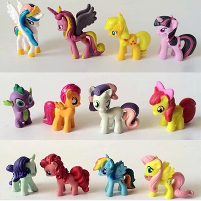 12/5-6cm/set Toy Collection pawl Cute patroled PVC Unicorn Poni Toys For Children Birthday Holiday Christmas doll Gif<br><br>Aliexpress