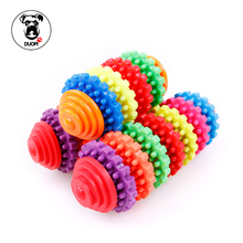 Pepoot Funny 7 Colors Rainbow Pet Cat Dog Toy Natural Nontoxic Vinyl Pet Supplies Teddy Dog Geometric Toy Bite-Resistant Teeth