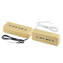 NEW Set of Yellow Soap Bar Singel Coil Guitar Pickup Neck Bridge Pickup For LP P90 Guitar