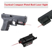 Tactical Compact Pistol 532nm Red Dot Laser Sight Scope 20mm Rail Hunting Shooting Airsoft For 1911 G17 19 20 21 22 23 30 31 32