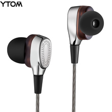 YTOM T9 Pro Metal Earphone HIFI Super Bass Headphones earbuds with Mic Dual Driver Unit Noise-isolating headset for phone MP3(China)
