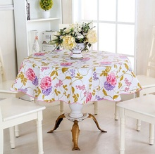 Pastoral tablecloth PVC table cloth Colorful Floral table cover Waterproof tablecloths For Home Round 150*150cm,180*180cm mantel
