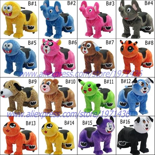 B1-B16 plush animal rides toys for kids 02