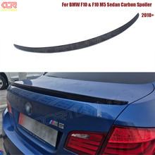 P Style For BMW F10 Spoiler Performance 2010 - UP 5 Series Sedan F10 Carbon Spoiler F10 M5 Rear Trunk Wings Spoiler Carbon Fiber(China)