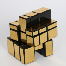 ShengShou Mirror Blocks Cast Coated Golden & Silver Magic Cubo Mirror Surface Puzzle Speed Cube Action Figures Super Brain