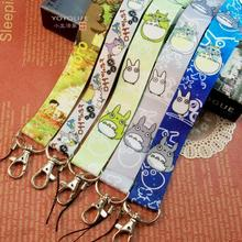 10PCS My Neighbor cartoon Totoro Neck Strap Cell Phone ID Card Key Lanyard Badge camera sling name card rope