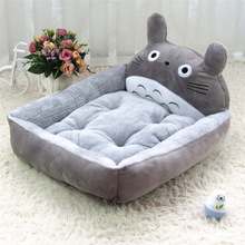 Fine joy Cute Animal Cat Dog Pet Beds Mats Teddy Pet Dog Sofa Pet Cat Bed House Big Blanket Cushion Basket Supplies S-XL