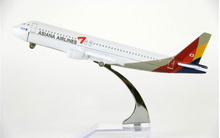 Air passenger plane model A320 Asiana Airlines aircraft  A320 16cm Alloy simulation airplane model for kids toys Christmas gift