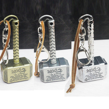 New Fashion Pendant The Avengers Thor Hammer keychain metal pendant cosplay Props toy For Men Women good present