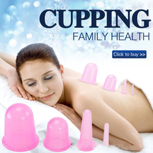Hot Anti Cellulite Skin & Muscle Toning Silicone Vacuum Massage Cups Body & Facial Ventosas Chinas Massager Therapy 4 Sizes