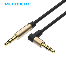 Vention Audio Cable 3.5 mm jack Male to Male Cable Audio 90 Degree Right Angle AUX Cable for Car Headphone Speaker Aux Cord