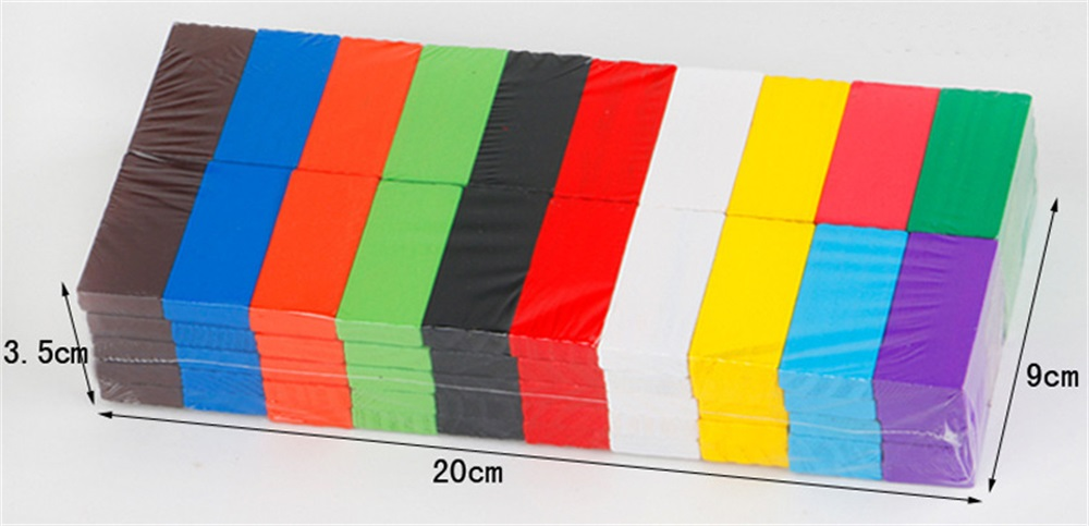 BIG Wooden Rainbow Dominoes Bricks
