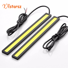 2pcs/lots Ultra Bright 10W 14cm Daytime Running light 100% Waterproof COB Day time Lights LED Car DRL Driving lamp Car styling