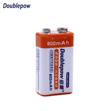 Doublepow High Capacity Li-Ion battery Rechargeable 9V Batteries 800mAh Battery  for Microphone GPRS