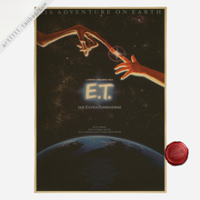 New Vintage Paper Retro Poster E.T. Movie Poster poster wall decals home decor room decoration 42*30cm