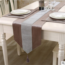 1 Pcs Table Runner 33*210 33*180 Two Size Floral Table Runner Color Gray Red Champagne Black Yellow Coffee