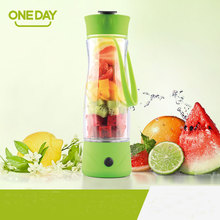 ONEDAY Electronic Juicer Drinkware Lemon Drink Bottle Plastic Glass with Handgrip Fresh Juice Fruit Pressing Fruit Tea bottles
