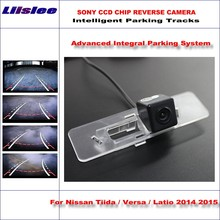 Buy Liislee Intelligent Parking Tracks Car Rear Camera Nissan Tiida / Versa / Latio 2014 2015 Reverse NTSC RCA AUX HD SONY for $44.89 in AliExpress store