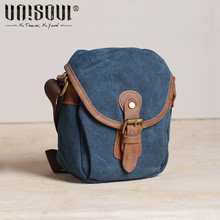 UNISOUL Mini Canvas Bag Men Vintage Small Messenger Bags High Quality Crossbody Male bags Mobile Phone Men's Shoulder Bags(China)