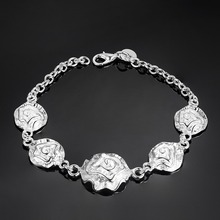 nice bracelet 925 free shipping Fashion jewelry silver gift gem Hand catenary PS561