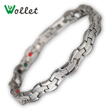 Wollet Fashion Jewelry Infrared Germanium Negative Ion Magnetic Bracelets For Women Titanium