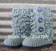 Best selling! Baby crochet Boots handmade crochet shoes 100% cotton baby toddler shoes custom 30pairs free shipping