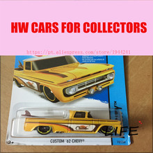 Toy cars Hot Wheels 1:64 Custom 62 Chevy Models Metal Diecast Cars Collection Kids Toys Vehicle For Children Juguetes 62(China)
