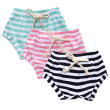 3pcs/lot Summer 2017 Children's shorts PP Hanging Crotch Short Newborn Baby Clothing Children Striped Shorts Harem Pants SK105