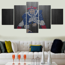2017 Green Bay Packers Unframed Famous Home Wall Art Design Living Room 5 Pieces Decorate Pictures Bedroom
