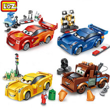 LOZ 4 Styles Mini DIY Assembly Model Bricks Cartoon Speed Racing Cars Blocks Loz Kids Educational Birthday Gift Boys Toys - AnyToys Brandz Store store