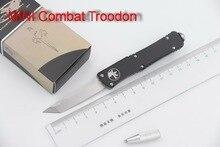 JUFULE 2018 MINI Combat Troodon D2 blade aluminum handle camping survival outdoor EDC hunt Tactical tool dinner kitchen knife