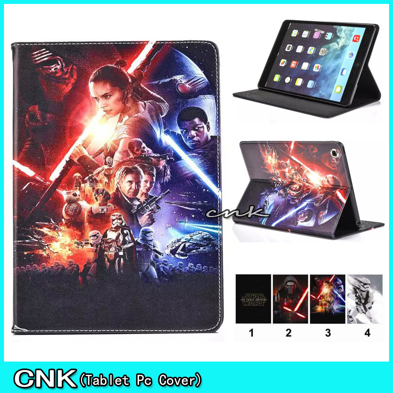 2016 Hot New Star Wars Fashion PU Leather Cover Case For Apple iPAD 2 3 4 5 6 Air/Air2 Tablet Conque Capa Case Cover Shell <br><br>Aliexpress