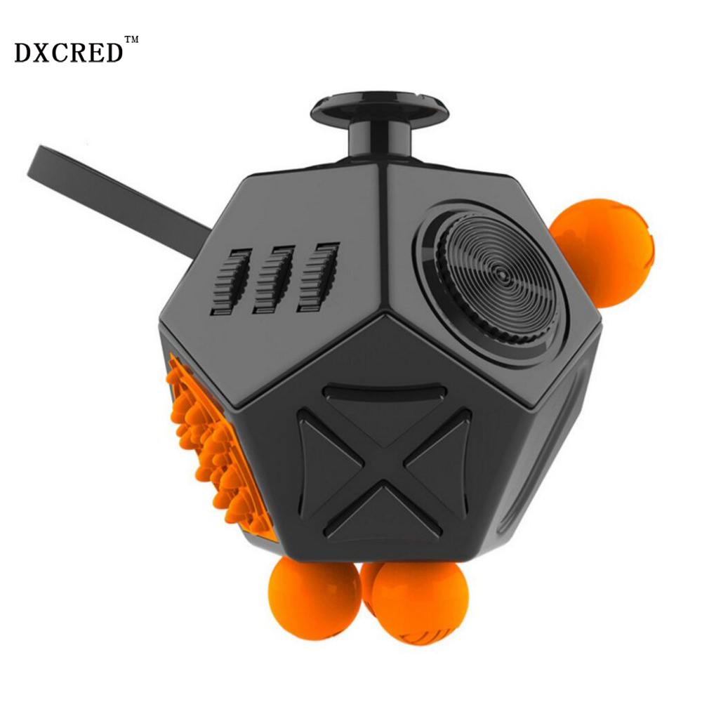 Promotion Fidget Cube Toys Six Sided Fidget Toys Anti Stress Magic Cube Figet Toys Squeeze Fun Stress Reliever Toys(China)