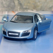 Brand New KT 1/36 Scale Germany Audi R8 Diecast Metal Pull Back Car Model Toy For Gift/Collection/Kids(China)