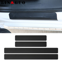 Buy 4pcs Carbon fiber Door Sill Scuff Car Door Plate Car Stickers Renault megane 2 scenic laguna 2 Captur fluence Latitude CLIO for $3.78 in AliExpress store