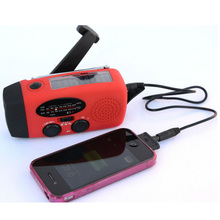 3 in 1 Emergency Charger Hand Crank Generator Wind/Solar/Dynamo Powered FM/AM Radio,Phones Chargers LED Flashlight Free Shipping