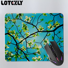 1pcs dogwood flowering branches sky beauty Background Pattern Design Desktop Pad Mousepads Optical Gaming Mouse Pads 210X250 MM