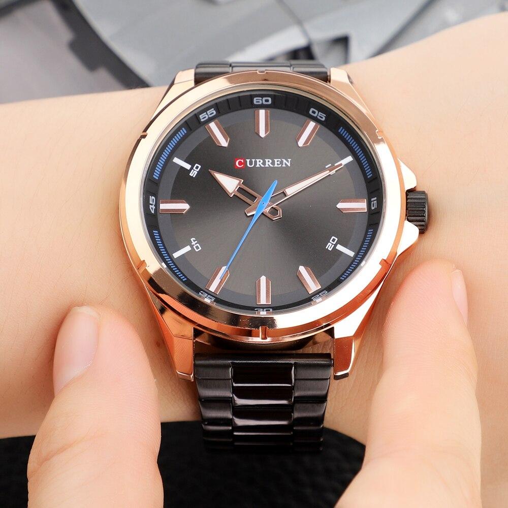 CURREN Fashion Men\\\'s Watch with Stainless Steel Strap Simple Creative Quartz Wristwatch for Men Clock erkek kol saati Waterproof 2019 (30)