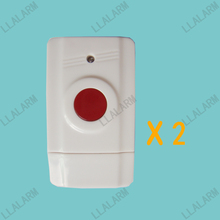 2pcs/lot~Wireless Panic Button Emergency Button Alarm for Home Alarm System 433MHz(China)