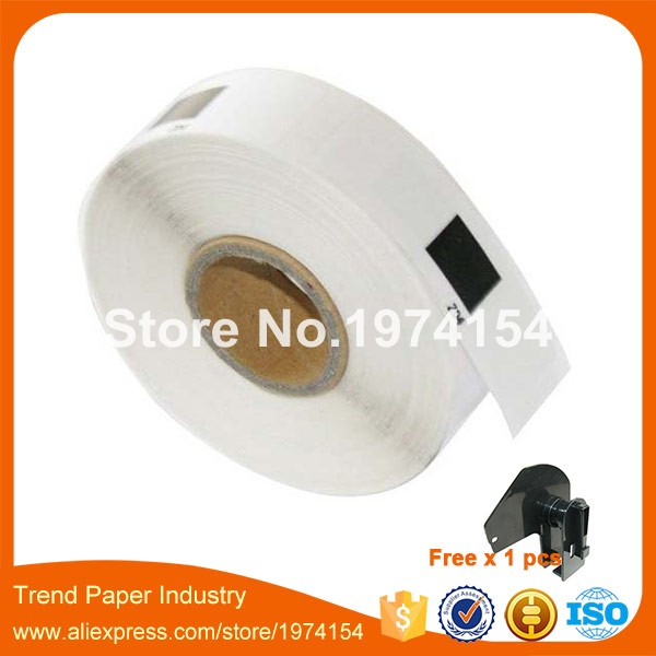 100 x Rolls Brother Compatible Labels DK-11204,17 x 54mm, 400 labels per roll, DK 11204, DK 1204