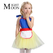 MOONIGHT 2017 Summer Girls Dress Apron Children Fancy Rapunzel Snow White Apron Girls Costume For Kids Princess Party Apron