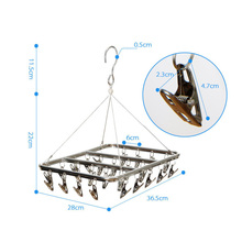 26 Clips Stainless Steel Aluminum Clothes Drying Rack Hanger Socks Shorts Underwear Drying Hanger Multifunctional drying shelf(China)