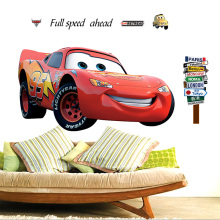 Best Salable 3D Cartoon Pixar Cars art posters Stickers,Cute Pixar Cars Mater wall stickers For Kids rooms fashion decor sticker