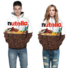 Nutella Pattern Couples' Casual Style 3D Digital Printing Personality Modern Fashion Popular Trend Loose Male&Female Hoodie